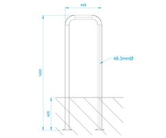 ASF 9000LCP Light Column Protectors drawing