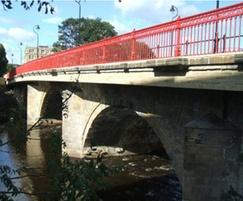 Cleggford Bridge newly refurbished parapet