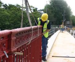 Careful removal of the parapet before refurbishment
