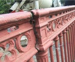 Cleggford Bridge parapet in need of refurbishment
