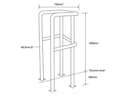 ASF 9500C Light Column Protector drawing