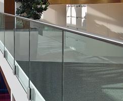 Side mounted glass balustrade