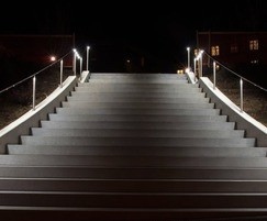 LED Handrailing with spotlights