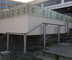 Side mounted glass balustrade and ASF 5006 handrail