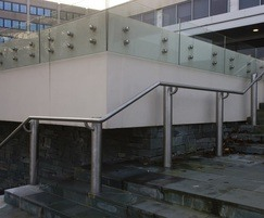 ASF glass balustrade and ASF 5006 handrailing