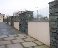 ASF channel fixed glass balustrade in slate piers