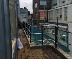 ASF Stowe 3-rail root fixed rooftop balustrade