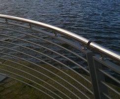 ASF steel railings with stainless steel top rail