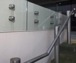 ASF 5006 Handrail + ASF Side Mounted Glass Balustrade