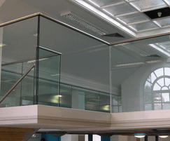 ASF Channel Fixed Glass Balustrade - Pro Fix - indoors