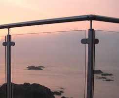 ASF Post and Clamp Glass Balustrade - shown outdoors