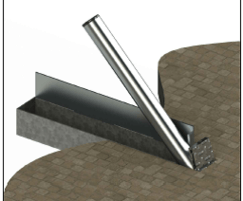 ASF Boston H20 rated trough bollard