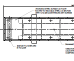 ASF Boston trough load certified bollard part drawing