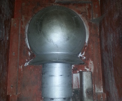 Ball finial pattern to make cast iron post ball top
