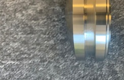 Machined stainless steel bollard top - side view