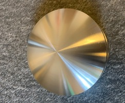 Machined stainless steel bollard top - from above