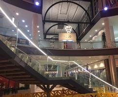 ASF curved illuminated handrails