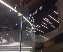 ASF curved glass and LED handrail combination