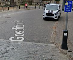 ASF bespoke marker post / sign bollard, Cirencester