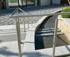 ASF LED Handrail to steps and water feature