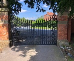 Repaired and refurbished Victorian Gate - reinstalled