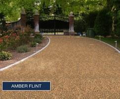 Amber Flint on driveway