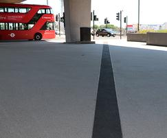 Bow roundabout showing resin bound surfacing
