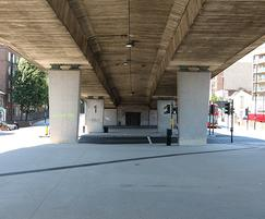 Resin bound surfacing of underpass