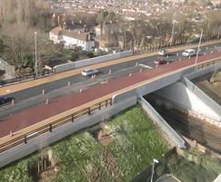 Northern Road Bridge aerial view