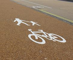 Resin bound surfacing for cycleway area