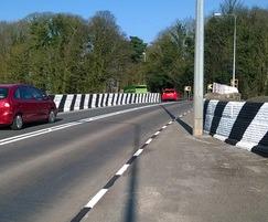 Meon road markings improve safety, Tarleton Bridge