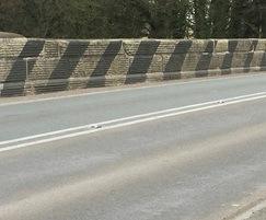 Tarleton Bridge before new road markings