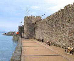 Resin bound surfacing at Caernarfon Castle