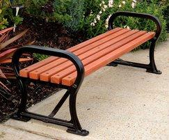 Avenue SF45 cast-iron bench with hardwood slats