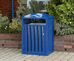 Barrent litter bins can be top coated in other colours