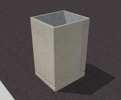Adriatic concrete litter bin