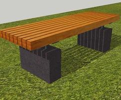 Roeburn concrete / hardwood bench