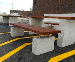 Hamble concrete / hardwood picnic table