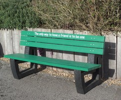 Friendship Seat with green slats