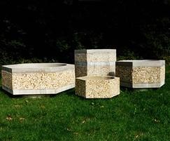 Southampton hexagonal concrete planters