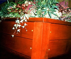 Woodland square hardwood planter