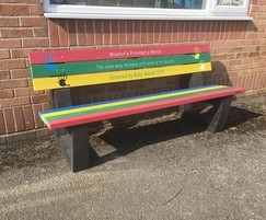 A fun Friendship Seat with personalised engraving.