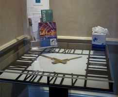 Bespoke clock table for hotel foyer