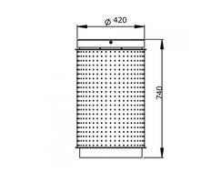 TD PINTO 100 free-standing litter bin dimensions