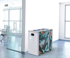 CANTO 3-container stainless steel recycling bin