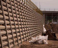 Andacrib retaining wall for new Sainsburys store