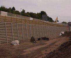 Andacrib retaining wall installation for Sainsburys