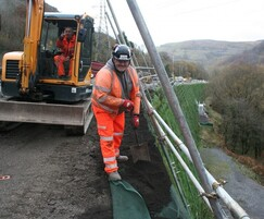 Phi Group: End of an era on the A465 retaining wall project