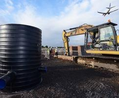 Stormwater drainage system for Manchester Airport
