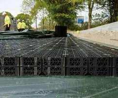 Permavoid is suitable for shallow attenuation systems